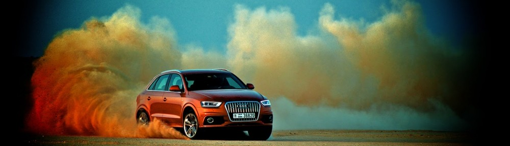 Audi Q3 kicking up dust