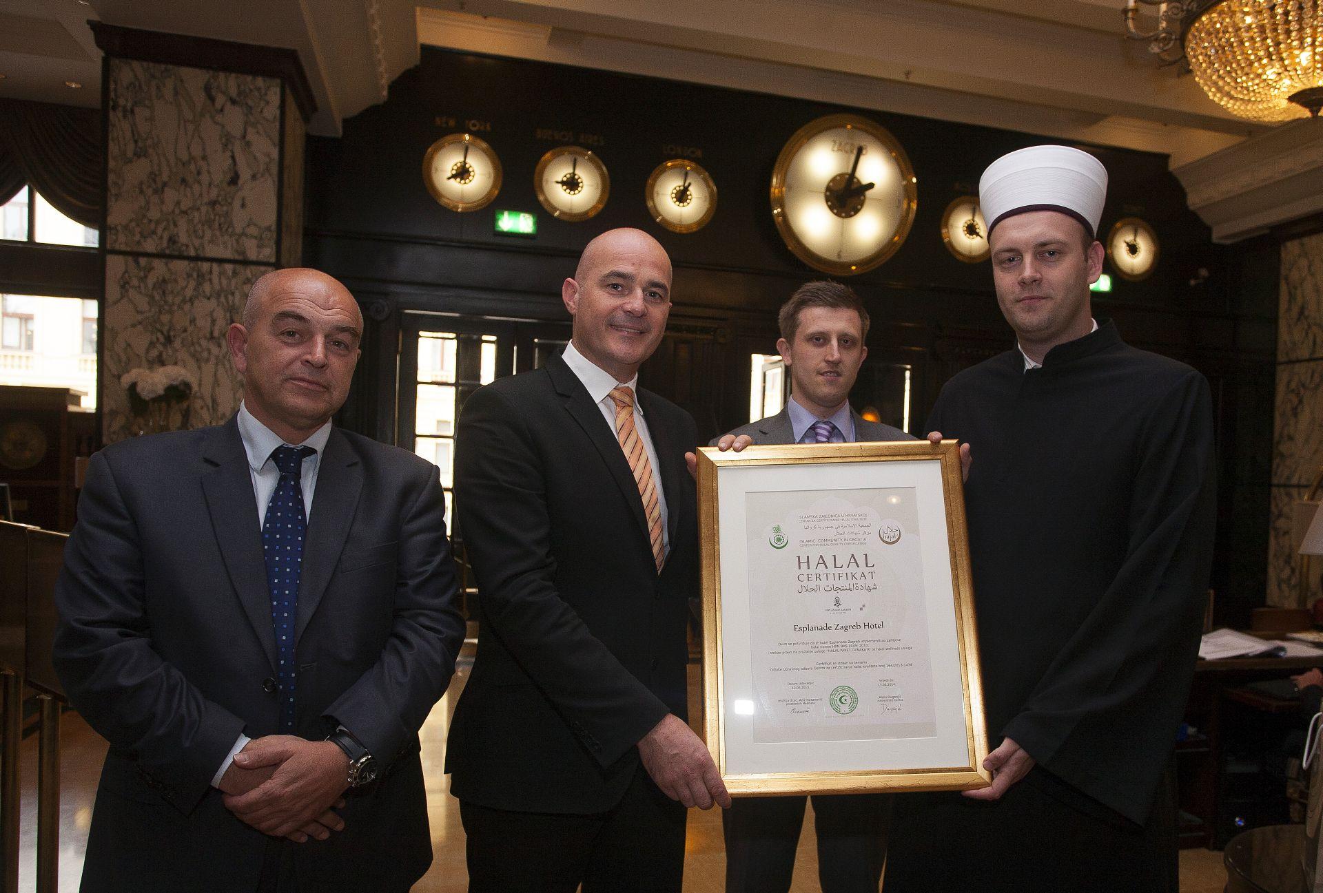 Halal certifikat Esplanade Zagreb Hotel