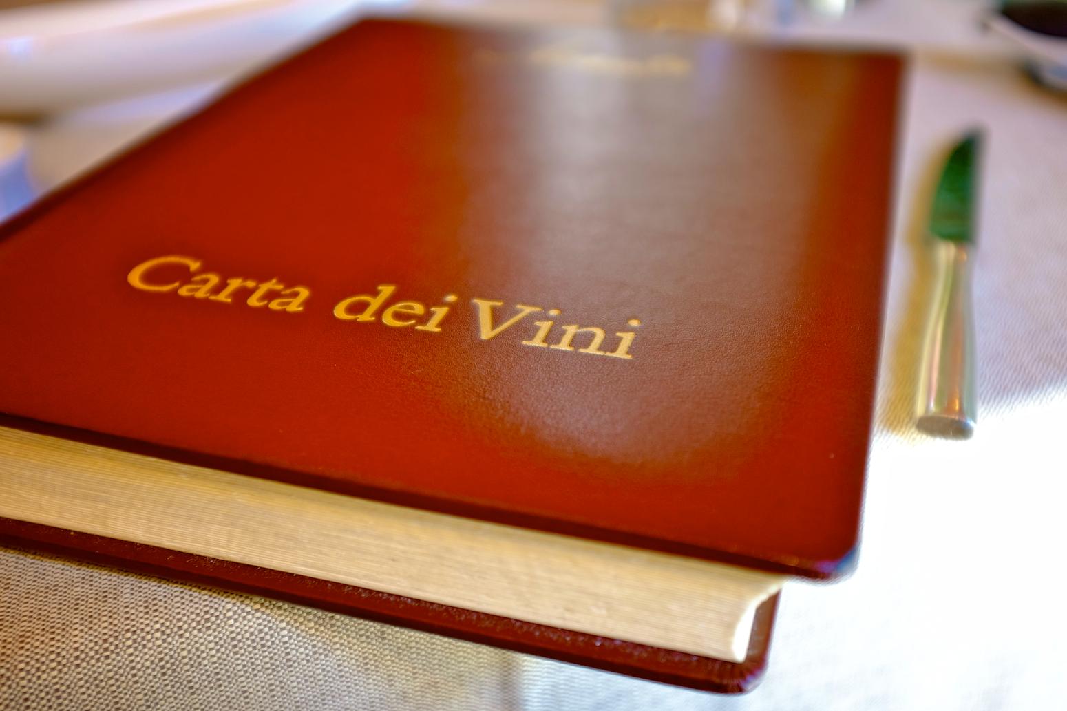 Acanto wine list